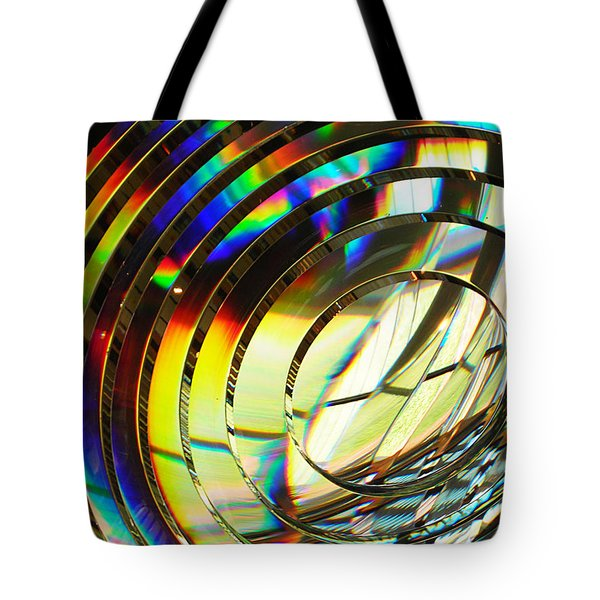 Light Color 1 Prism Rainbow Glass Abstract By Jan Marvin Studios Tote Bag