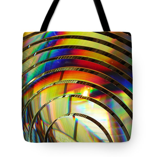 Light Color 2 Prism Rainbow Glass Abstract By Jan Marvin Studios Tote Bag
