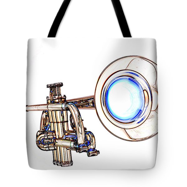 Light Color Drawing Of A Trumpet Bell Isolated 3018.06 Tote Bag