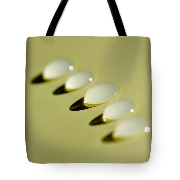 Light - Droplets - Shadows Tote Bag by Kaye Menner