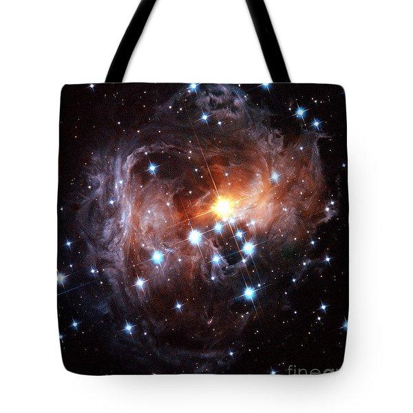Light Echo Around Star V838 Monocerotis Tote Bag by Science Source