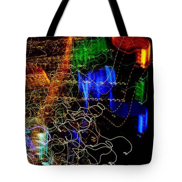 Light Graffitti Resembling Sea Horses Tote Bag