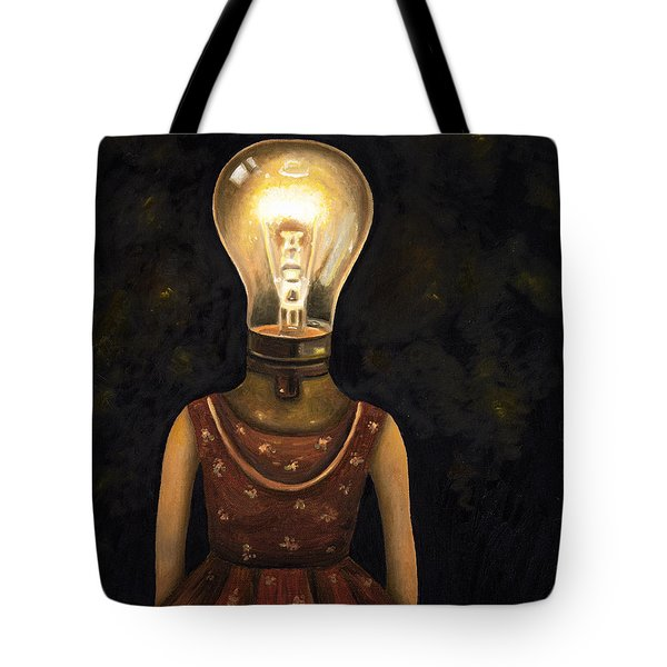 Light Headed Tote Bag by Leah Saulnier The Painting Maniac