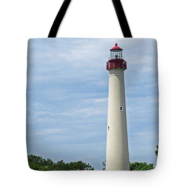 Light House At Cape May Nj Tote Bag