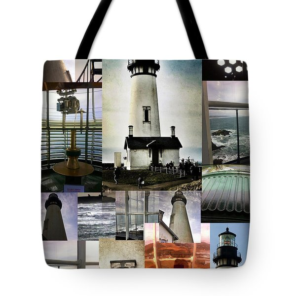 Light House Collage Tote Bag by Susan Garren