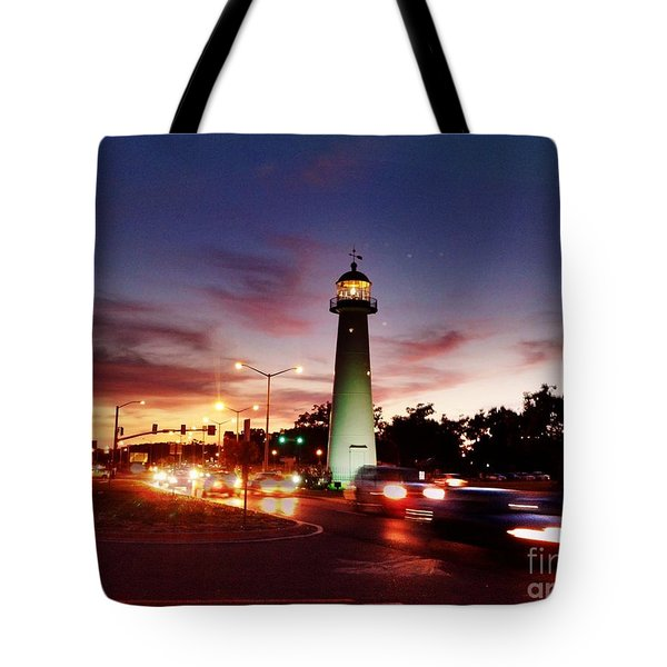 Light House Tote Bag by Janice Spivey