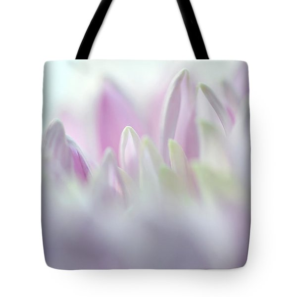 Light Impression 2. Pink Chrysanthemum  Tote Bag by Jenny Rainbow