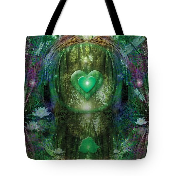 Light In The Forest Tote Bag by Alixandra Mullins