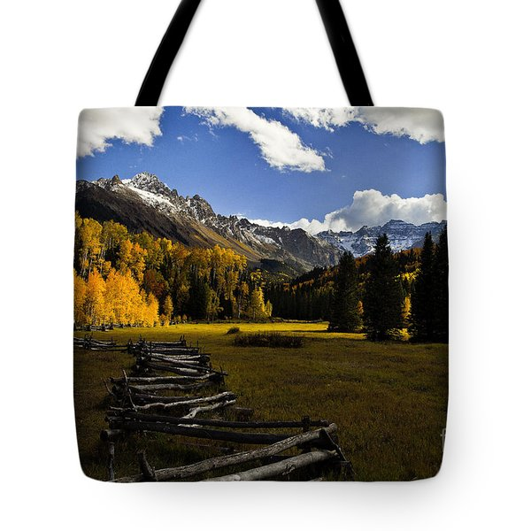Light In The Valley Tote Bag by Steven Reed