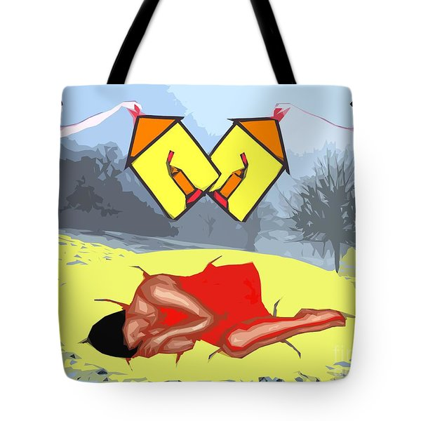 Light Of Love Angels Watching Over Tote Bag by Patrick J Murphy
