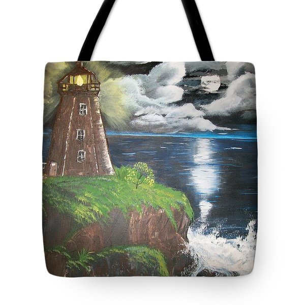 Tote Bag featuring the painting Light Of The Moon by Sharon Duguay