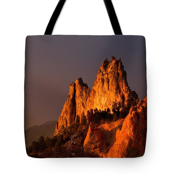 Tote Bag featuring the photograph Light On The Rocks by Ronda Kimbrow