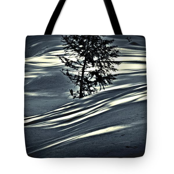 Tote Bag featuring the photograph Light On The Snow by Janie Johnson