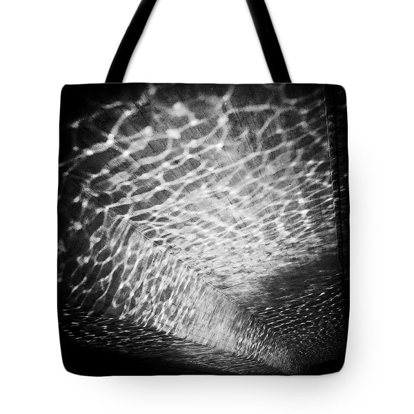 Light Reflections Black And White Tote Bag