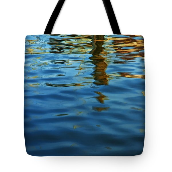 Light Reflections On The Water By A Dock At Aransas Pass Tote Bag