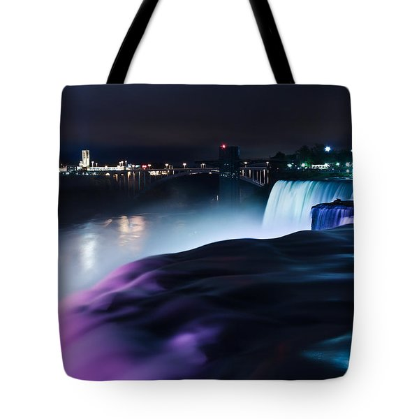 Tote Bag featuring the photograph Light Show by Mihai Andritoiu