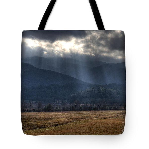 Light Shower Tote Bag by Douglas Stucky