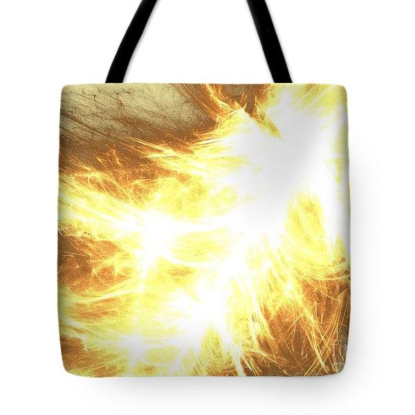 Tote Bag featuring the digital art Light Spark by Kim Sy Ok