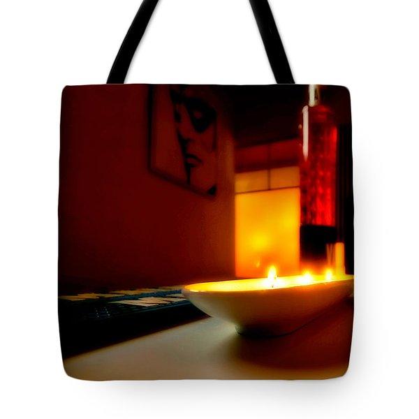 Light The Bottle Tote Bag by Melinda Ledsome