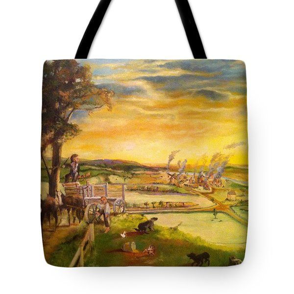 light2 - Shadows Tote Bag by Mary Ellen Anderson