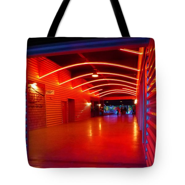 Lighted Breezeway - At Trinity Groves Tote Bag