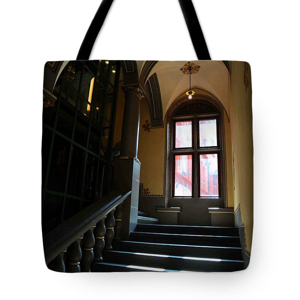 Lighted Stairs Tote Bag