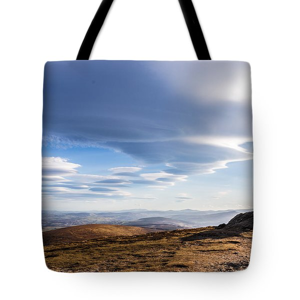 Lightfall On Djouce Mountain Summit Tote Bag