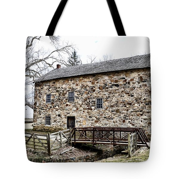Lightfoot Mill At Anselma Chester County Tote Bag by Bill Cannon