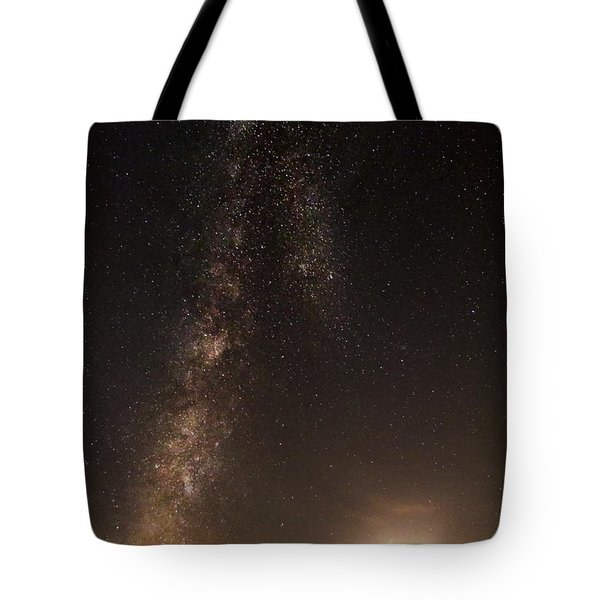 Lighthouse And Milky Way Tote Bag