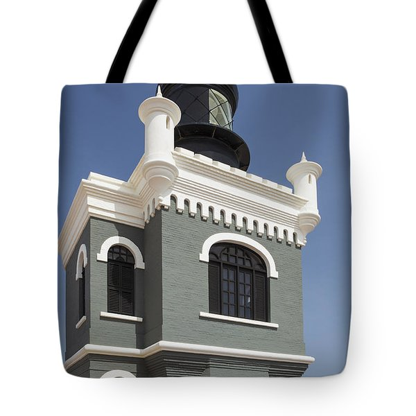 Lighthouse At El Morro Fortress Tote Bag