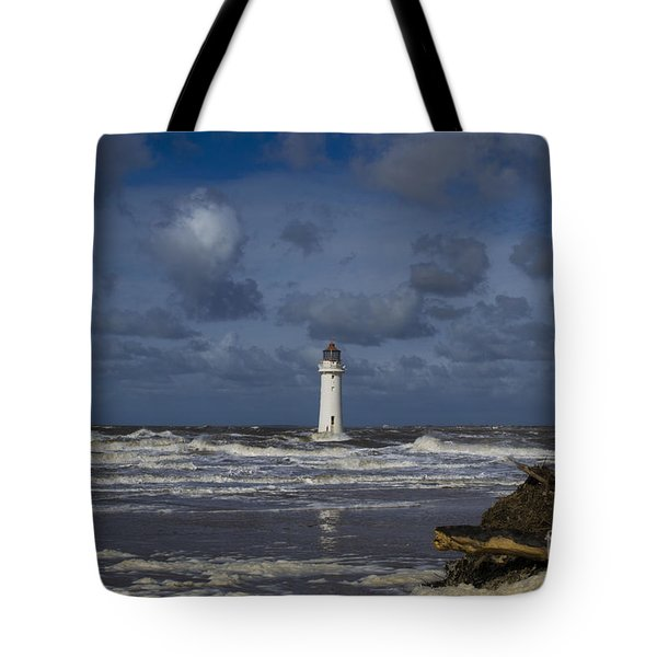 lighthouse at New Brighton Tote Bag