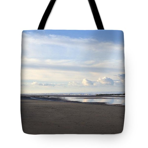 Lighthouse At Talacre Tote Bag by Spikey Mouse Photography
