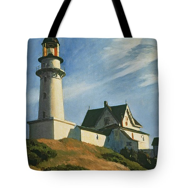 Lighthouse At Two Lights Tote Bag