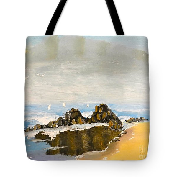 Lighthouse Beach Tote Bag
