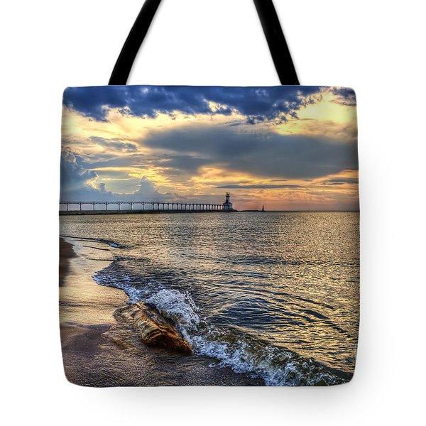 Lighthouse Drama Tote Bag