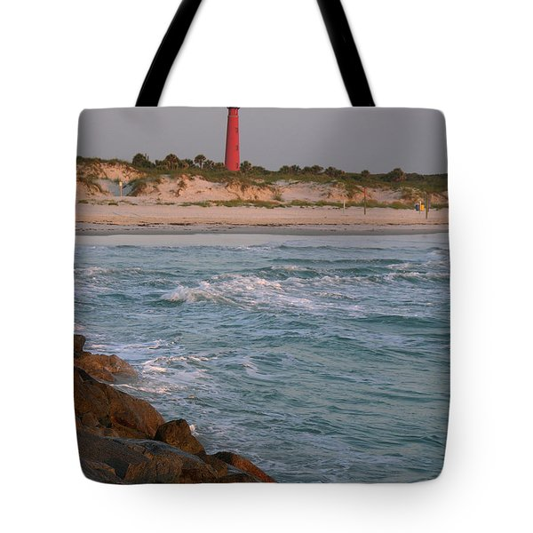 Lighthouse From The Jetty 2 Tote Bag