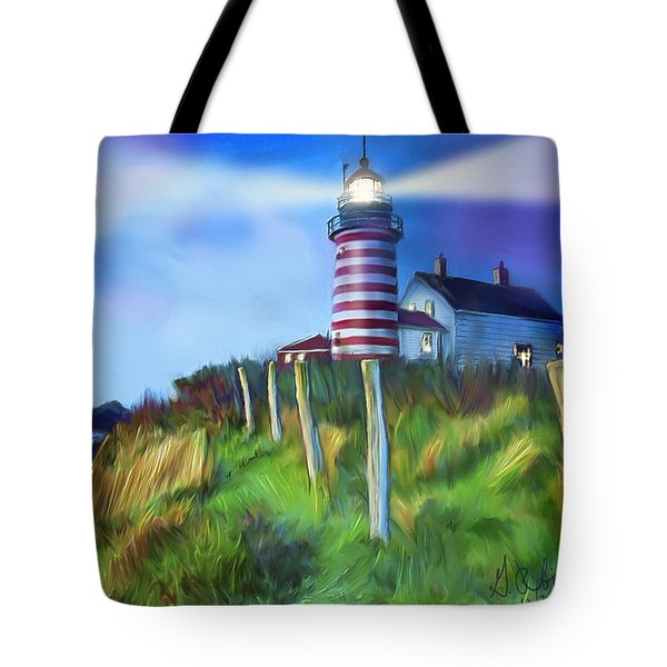 Lighthouse Tote Bag by Gerry Robins