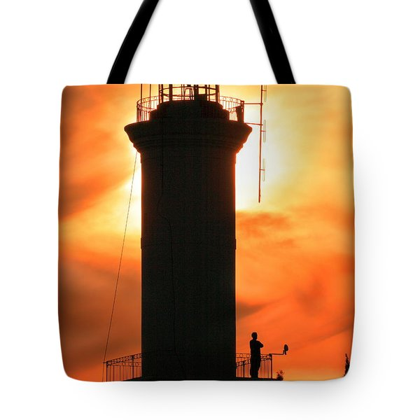 Tote Bag featuring the photograph Lighthouse I by Bernardo Galmarini