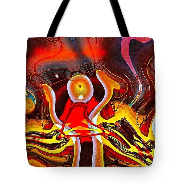 Lighthouse In Abstract Tote Bag
