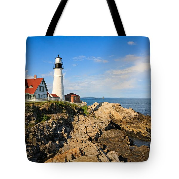 Lighthouse In The Sun Tote Bag