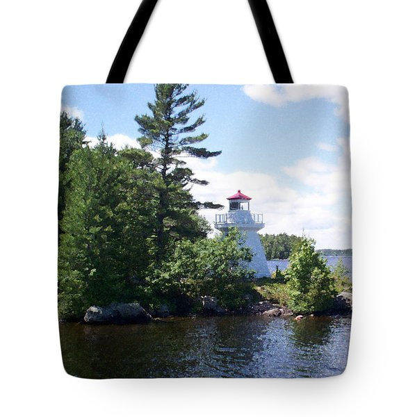 Lighthouse Island Tote Bag