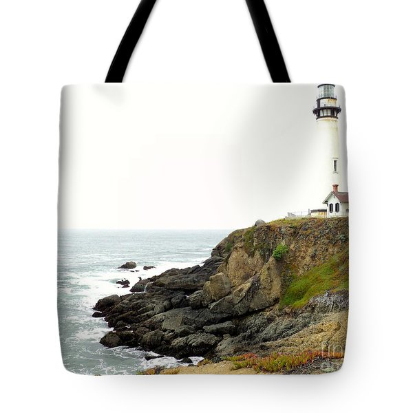 Tote Bag featuring the photograph Lighthouse Keeping Watch by Carla Carson