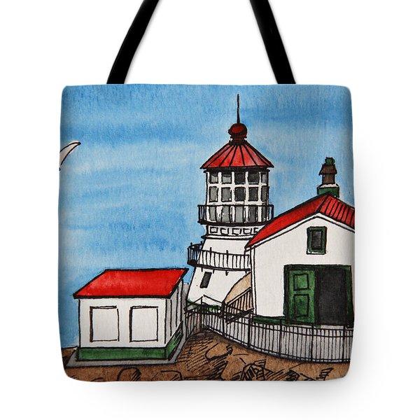 Lighthouse Tote Bag by Masha Batkova