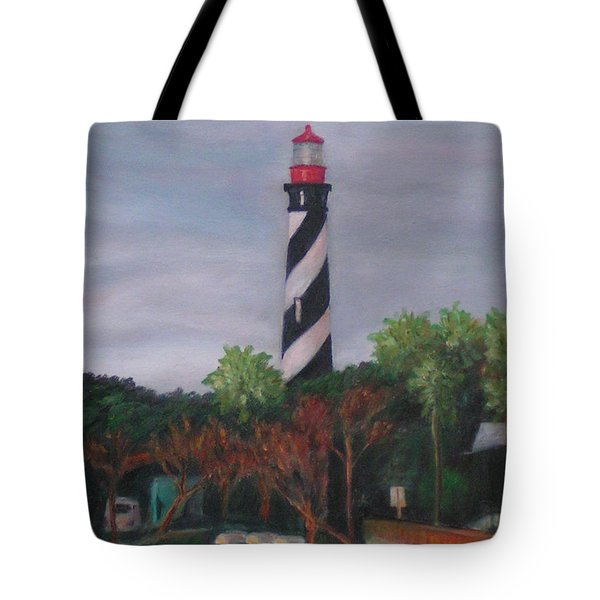 Lighthouse Morning Tote Bag