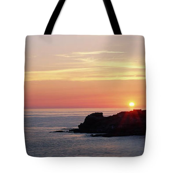 Lighthouse On An Island In Atlantic Tote Bag