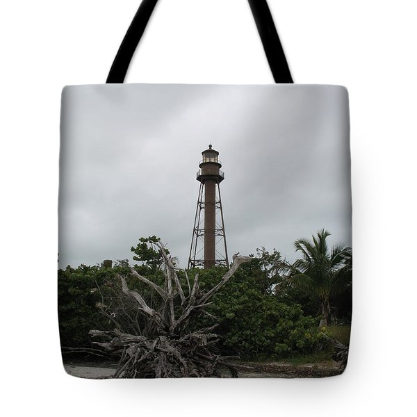Lighthouse On Sanibel Island Tote Bag by Christiane Schulze Art And Photography