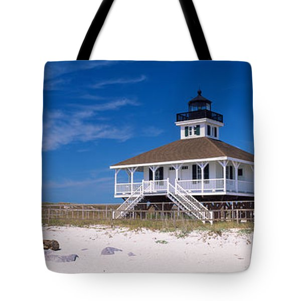 Lighthouse On The Beach, Port Boca Tote Bag