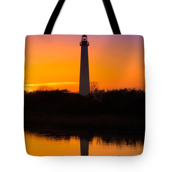Lighthouse Silhouette Tote Bag by Michael Ver Sprill