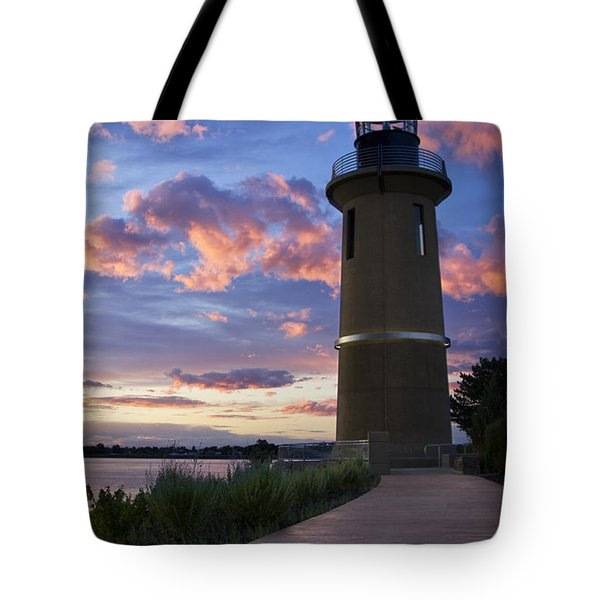 Tote Bag featuring the photograph Lighthouse by Sonya Lang