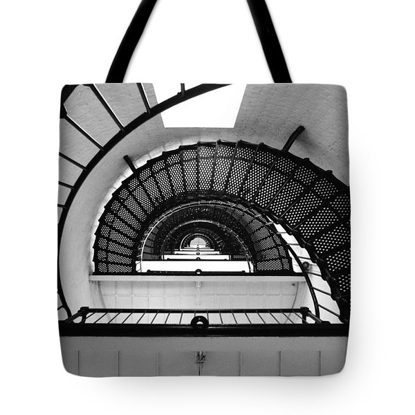 Lighthouse Spiral Tote Bag by Beverly Stapleton
